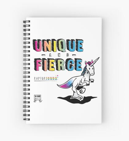 Unique and Fierce Spiral Notebook