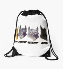No Evil - Warrior Cats Power of Three Illustration Drawstring Bag