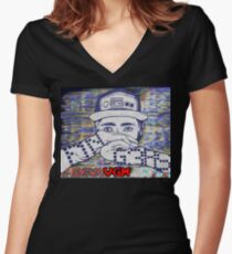 "F1NG3RS ""VGM"" Album Art Women's Fitted V-Neck T-Shirt"