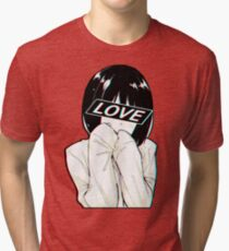 LOVE Sad Japanese Aesthetic  Tri-blend T-Shirt