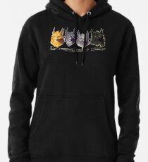 Kein Übel - Krieger-Katzen-Energie von drei Illustration Hoodie