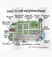 rock 'n' roll neighbourhood Poster