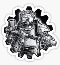 Power armour - black and white Sticker