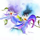 Spring Curves (Clematis) by Pat Yager