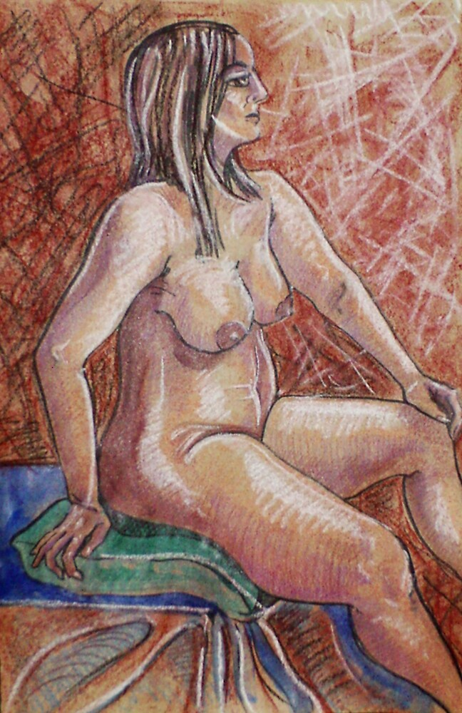 Proud Female Nude (Mixed Media)- by Robert Dye