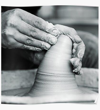 hands of worker Poster