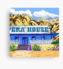 Ghost Town Opera House Canvas Print