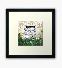 Thousand Lives Framed Print