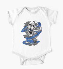 Jiu Jitsu BJJ Skull Shirt for Blue Belts Kids Clothes