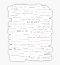 I  Love You (in every language) Sticker