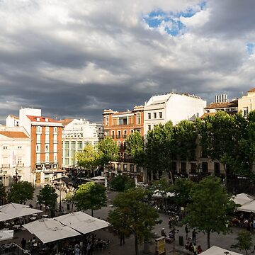 Gathering Clouds Do Not Stop the Gathering Crowds - Plaza Santa Ana Madrid Spain by GeorgiaM