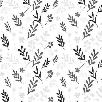 Floral Pattern 1 - Gray by pauladolz