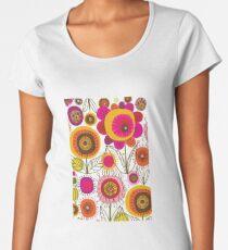Funky Retro Hippie Flowers Women's Premium T-Shirt