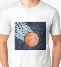 Basketball Fire and Ice Team Sports Design T-Shirt