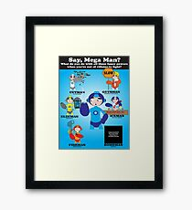 Mega Man Day Job Framed Print