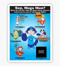 Mega Man Day Job Sticker