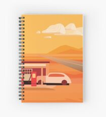 Old Gas Station in Tonapah Spiral Notebook