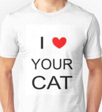 I love your cat txt Unisex T-Shirt