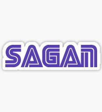 Carl Sagan Sega Logo Print Sticker