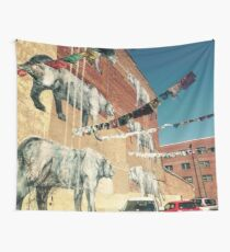 Big Cats on a Wall Wall Tapestry