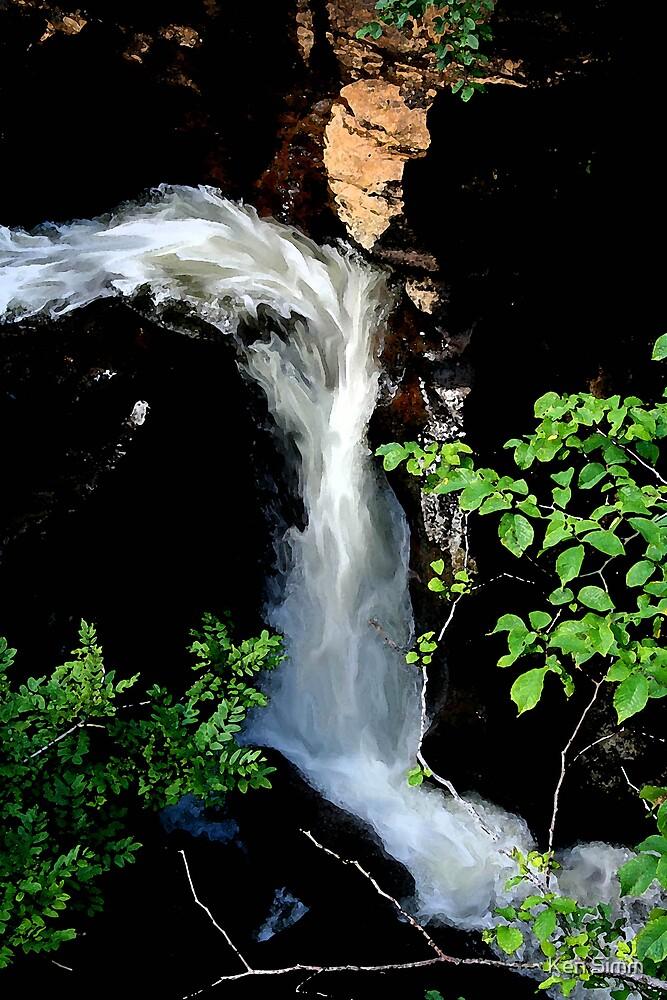 Rocks & River. The falls by Kenart