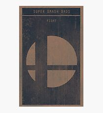 Super Smash Bros. Gaming Poster Photographic Print