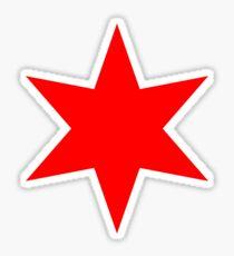 Chicago Flag Single Star Sticker