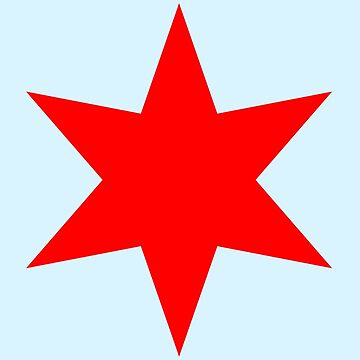 Chicago Flag Single Star by velocitymedia
