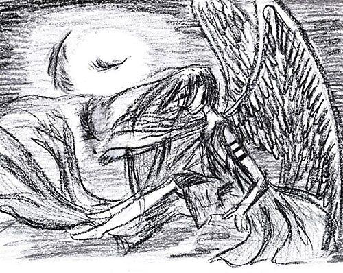 angel at night by Gulziyba