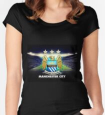 manchester city Women's Fitted Scoop T-Shirt