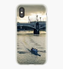 Early Morning Rowers on the Yarra iPhone Case