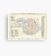 Berlin Map from 1688 Canvas Print