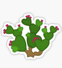 Heart-Shaped Prickly Pear Cactus Sticker