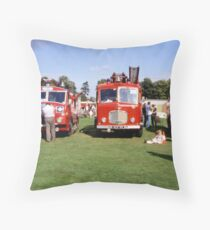 Old fire engines at York Rugby Club Throw Pillow