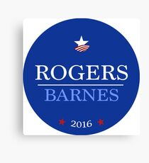 Campaign Button Canvas Print