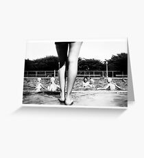 A Day at the Pool Greeting Card