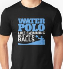 Camiseta unisex Waterpolo le gusta nadar pero con B
