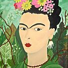 Frida with Flowers by Shulie1