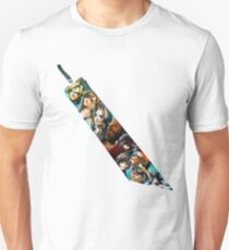 Final Fantasy 7 Buster Sword Cloud, Tifa, Vincent and characters Slim Fit T-Shirt