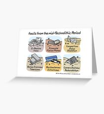 Technolithic fossils Greeting Card