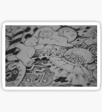 Alien and bear sketch Sticker