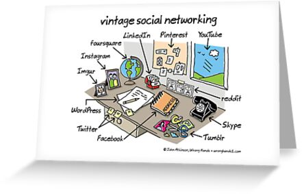 Vintage social networking greeting cards by wronghands redbubble vintage social networking by wronghands ccuart Gallery