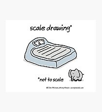 scale drawing Photographic Print