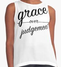 """Grace Over Judgement"" COLOSSIANS 3:13 Contrast Tank"