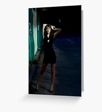 Fashion Shot Chloe Jane Street Location Greeting Card