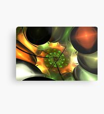 Orange Gold Layer Spiral  Metal Print