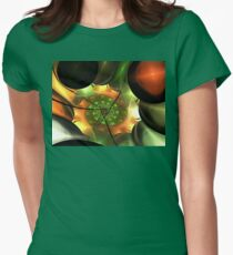 Orange Gold Layer Spiral  Womens Fitted T-Shirt