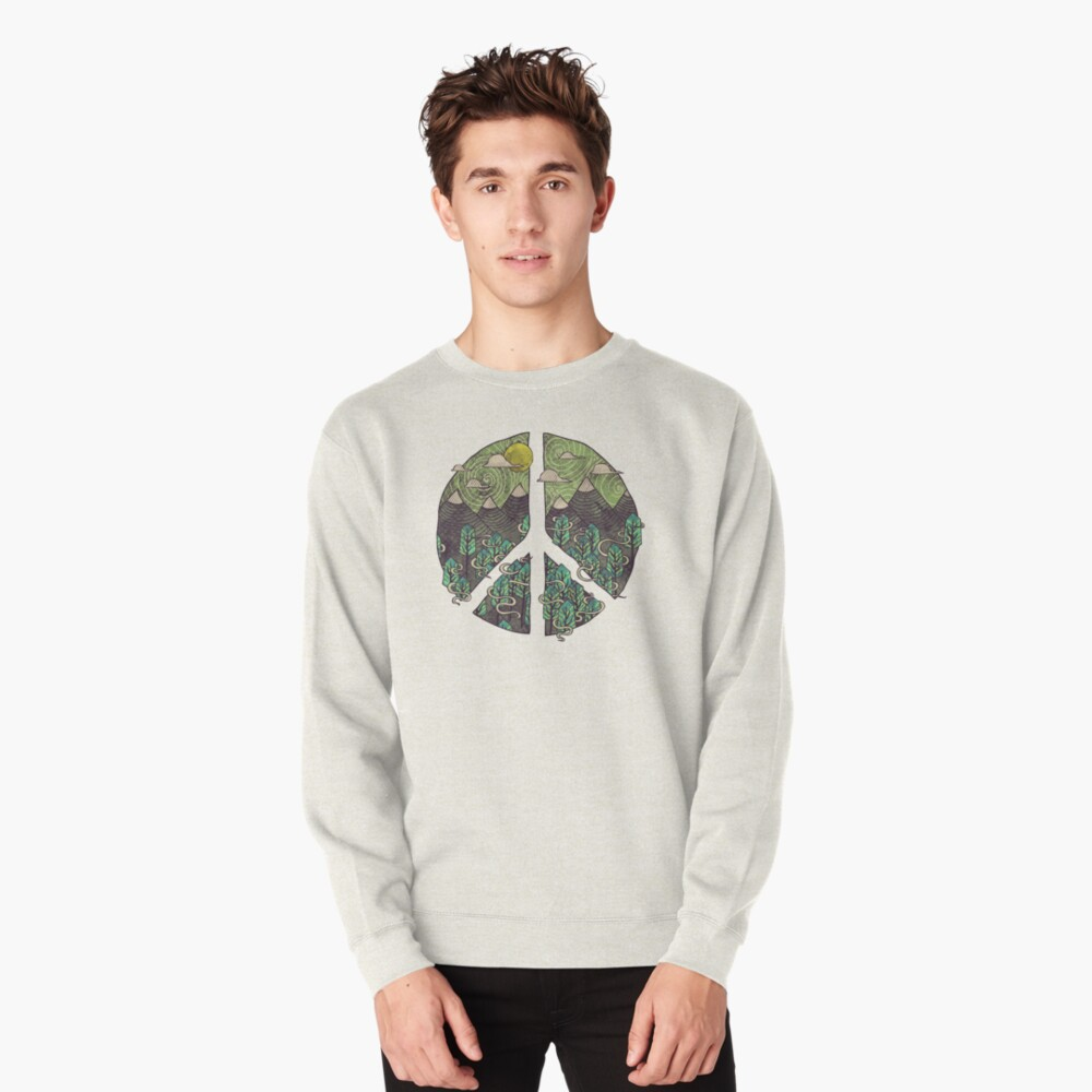 Peaceful Landscape Pullover Sweatshirt