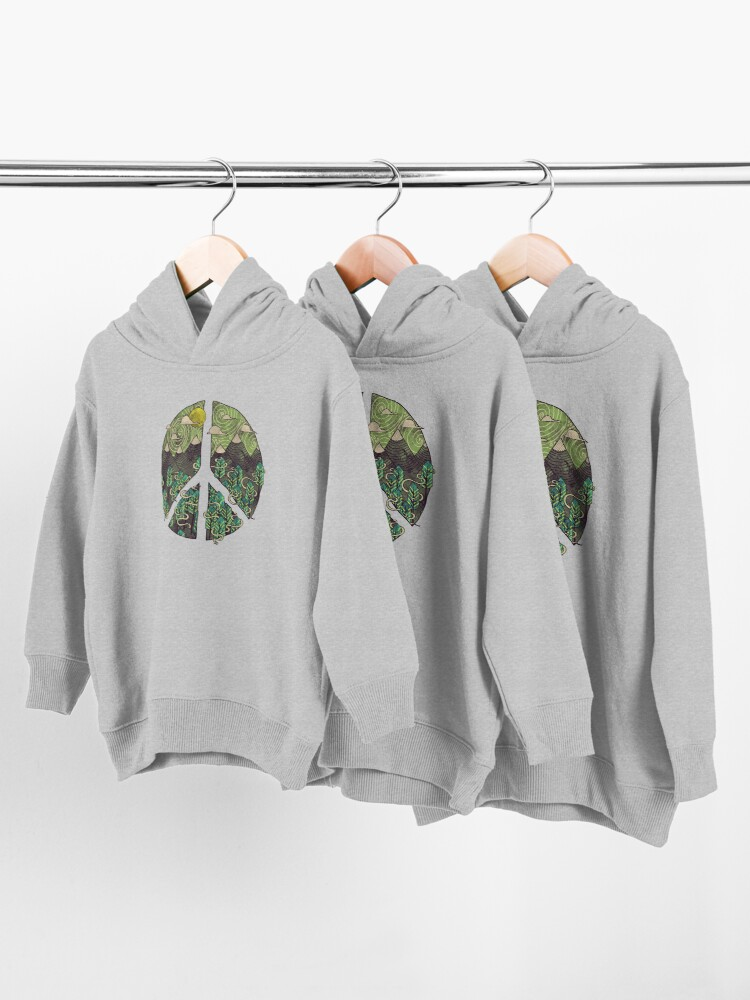 Alternate view of Peaceful Landscape Toddler Pullover Hoodie