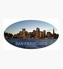San Francisco Ferry Building and Beautiful Skyline Photographic Print